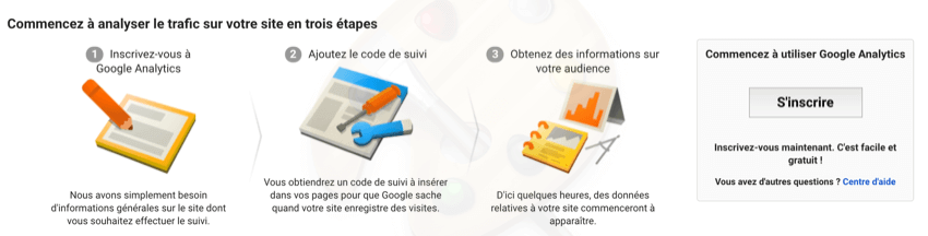 demarrer avec google analytics